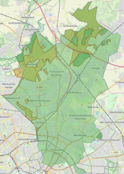 Schutzgebiete im Bezirk